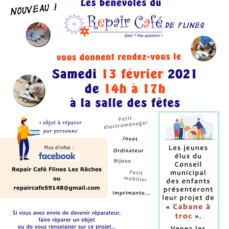 1er repair cafe de Flines lez Râches