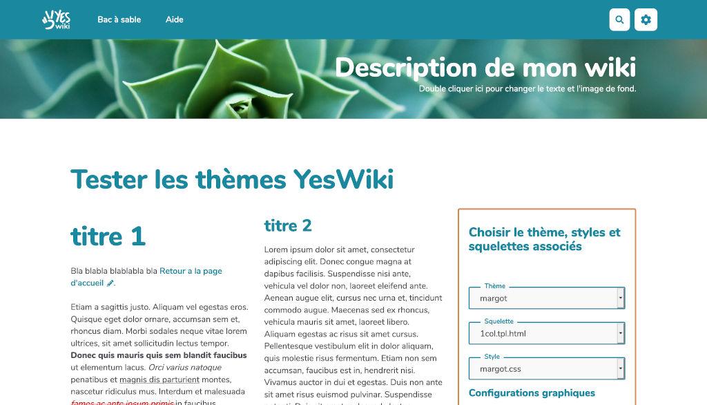 screenshot for theme Margot (thème par défaut de YesWiki)